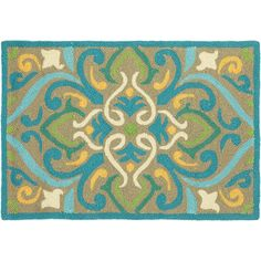 Morocco Aqua Area Rug (2' x 3') by Company C - Home Gallery Stores