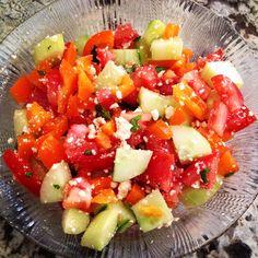 Garden Fresh Rainbow Salad #healthy #lunch