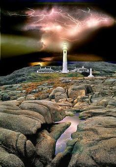 Lightning over Point Hicks Lighthouse, Victoria, Australia via Natalie Zarrin - Google+