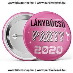Lánybúcsú Party 2020 kitűző rózsaszín