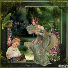 Dama in giardino