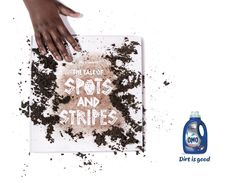 """""""The OMO Book of Dirt"""" To get kids offline and outside, we created a book that can only be read with dirt. After working on this for 2 years, I'm proud to present """"The OMO Book of Dirt"""" with our first new African fable """"The Tale of Spots And Stripes"""". The Book, The Outsiders, Presents, Stripes, Good Things, Copywriting, Create, Paper, Books"""