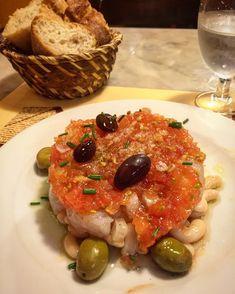 Cal Boter #Barcelona Barcelona Restaurants, Tapas Bar, Best Chef, White Beans, Cod, Salad, Dishes, Kitchens, Cod Fish