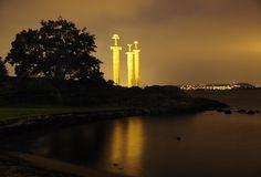 The Viking swords at Stavanger monument, Norway.