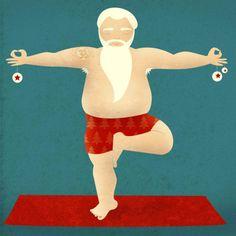 yogi-santa-christmas-tree #yogi #yoga #santa #christmas #christmastree #christmas-tree #xmas #meditation #merrychristmas #weihnachtsmann