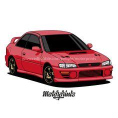Subaru Impreza WRX Type R (red) #subaru #impreza #typer #wrx #sti #wrxsti #gc8 #rally #coupe #subarulove #imprezalove #car #carinstagram #cars #printshirt #carshirt #motorprints #printtoorder #carillustration #cardrawing #carapparel #carvector #shirts #automotivearts