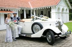 Vehicles for your wedding provided by Mal-Key Rent-A-Car www.malkey.lk