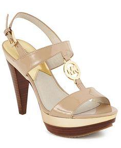 MICHAEL Michael Kors Shoes, Charm Platform City Sandals - Shoes - Macy's