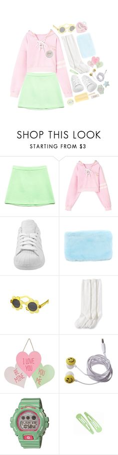 """#120"" by k-ura ❤ liked on Polyvore featuring Forever 21, adidas, Gymboree, Jefferies Socks, Etude House and G-Shock"
