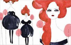 Anja Kroencke   Fashion Illustration with Sophistication inspiration