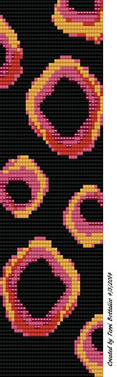 Created this pattern using  BeadTool to work up on my Mirrix Loom