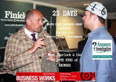 23 days to South Coast Business Works  #bizworks http://www.answers.uk.com/services/southcoabus.htm  Meet #Sherlock & the business award winning PRIVATE EYES of ANSWERS  INVESTIGATION– see if you can crack our safe while eating our popcorn – and win tickets to the Sherlock Holmes museum  T:02380 308274 http://www.answers.uk.com