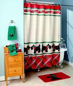 Christmas Scottie Bath Collection