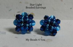 Beaded EarringsBeadwoven Earrings Seed Bead by mybeads4you on Etsy