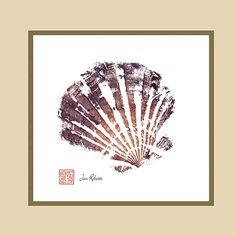 Japanese fish painting of a sea shell. I have a series of 3 of these above my bed. LOVE them!