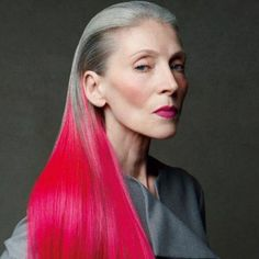 Hair by Patrick de Marchelier - too old for colour, you say? I think not