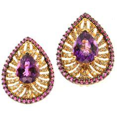 Margot McKinney Jewelry Hearts Desire Rose de France Amethyst Earrings kbRwn
