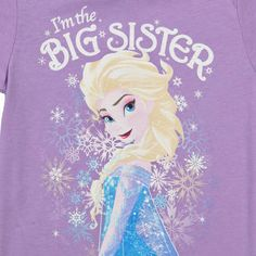 Big Sister Elsa Frozen Shirt: Disney, Frozen Girls T-shirt