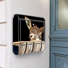design briefkasten edelstahl briefk sten 38x42x11 von banjado mit motiv k he k che. Black Bedroom Furniture Sets. Home Design Ideas