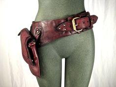 leather hip bag, thigh bag, burning man, tank girl, mad max, utility belt, holster belt : Renegade Icon designs