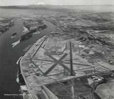Portland International Airport in 1960.
