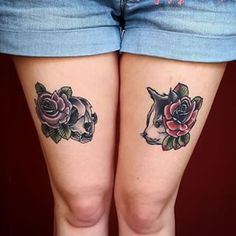 This cats-and-roses tattoo. | 28 Classy Cat Tattoos Every Cat Lover Will Adore