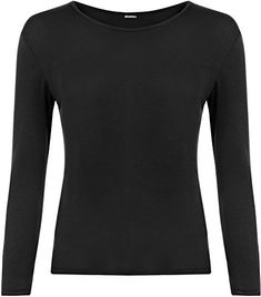 Product review for WearAll Women's Plus Size Long Sleeve T-Shirt Ladies Stretch Plain Top.  - The basic Megan long sleeve top is an affordable wardrobe staple for every girl. This versatile plain long sleeve top can easily be worn with jeans and flats, as part of a casual daytime outfit. This essential piece arrives on the scene with long sleeves, the soft stretch fabric makes the top...