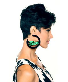 melody ehsani poison earrings that-girl-is-blk-grn-4 Short Hair Style