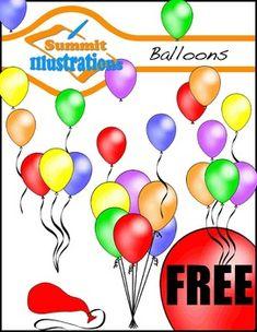 Love this FREE balloon clipart!