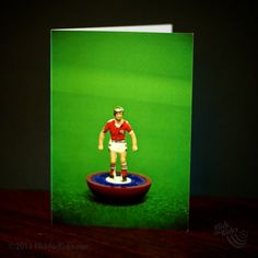 England Away Football Subbuteo Figure Card by MadeforKicks at Folksy.com