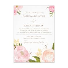 pink flower wedding invitations http://www.itgirlweddings.com