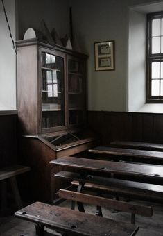 Maestir School, St Mary's Board School, Maestir Lampeter Ceredigion, Used 1880-1916 re-erected 1984  St Fagans National History Museum,  UK