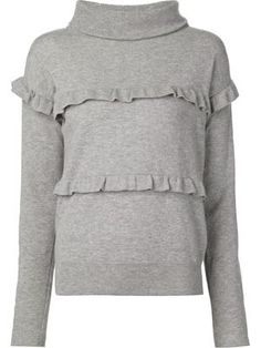 frill detail sweater