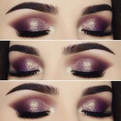 Shimmer Eye Makeup Look - Perfect for the Holidays!