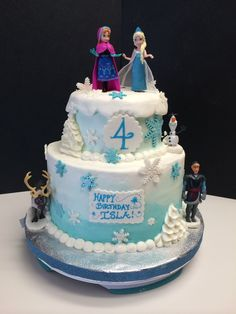 Frozen themed caked