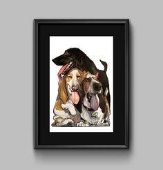 Canine Caricature Pet Portrait (Deposit Only)