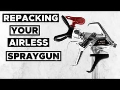 Has your airless spray gun started to leak? It's probably time to repack it. We'll show you how to disassemble your airless spray gun QUICKLY AND EASILY with. Life Tv, How To Make Paint, Painting Tips, Guns, Youtube, Advice, Weapons Guns, Handgun, Shotguns