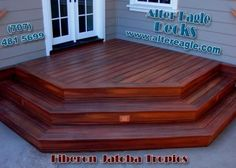 I want a nice deck with steps at my front door.