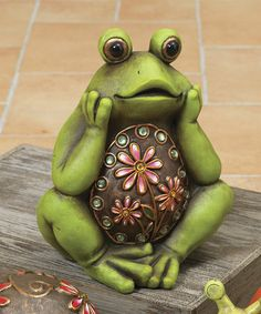 Loving this Jeweled Frog Figurine on #zulily! #zulilyfinds