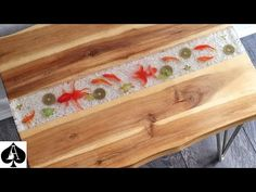 Epoxy resin river tables have become one of the biggest furniture design statements in recent years, and ever since I introduced you to the fish stickers . Resin Table Top, Wood Resin Table, Wood Table, Fish Crafts, Resin Crafts, How To Make Fish, Diy Table, Diy Furniture, Stickers