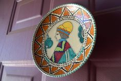 Vintage Cecconi Orvieto Plate Wall Hanging by LadyGreyVintage