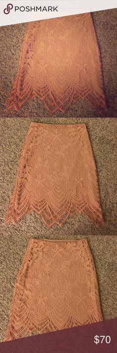 NWOT For Love and Lemons Guava Lace Skirt Gorgeous For Love and Lemons Guava Lace Skirt.  Size small.  NWOT condition. Reposhing-  Beautiful skirt, just too small for my posterior. For Love And Lemons Skirts Mini