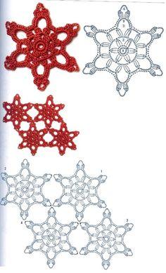 Stern häkeln / crochet star Motiv häkeln - motif crochet 3