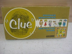 Clue! Miss Scarlet with the rope in the Kitchen. Mrs. Peacock with the revolver in the ballroom. Professor Plum with the wrench in the library. The edition here is from late 60's or early 70's.