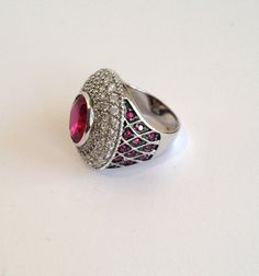 Vintage Sterling Silver Ruby and Pave Estate by WOWTHATSBEAUTIFUL