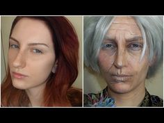 OLD AGE MAKEUP TUTORIAL TRANSFORMATION without prosthetics - YouTube