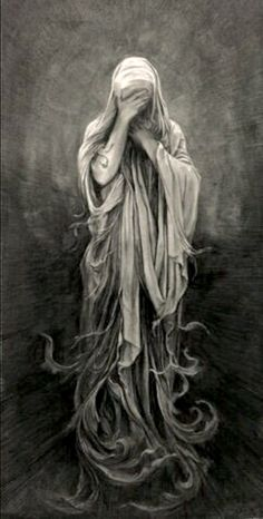 By Carlos Torres : but instead with angel Bowing head Graffiti Tattoo, La Pieta, Chicano Art, Angels And Demons, Gothic Art, Dark Gothic, Dark Art, Painting & Drawing, Fantasy Art