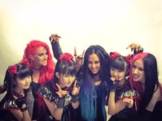 @BABYMETAL_JAPAN Girls' Night! @ButcherBabies @NYDrock @BABYMETAL_JAPAN at @MetalHammer #GoldenGods