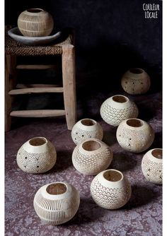 Coconut candleholder