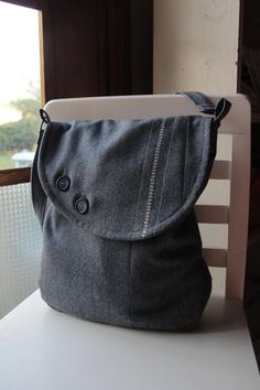 Sewing: Upcycled Wool Messenger Bag